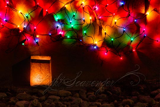 Luminaria and Christmas Lights