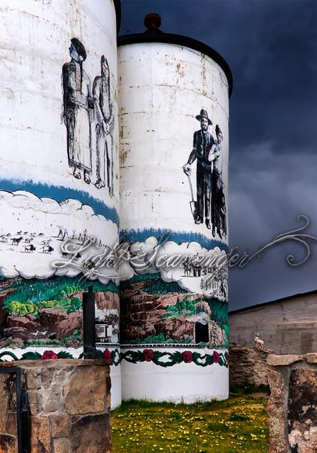 Painted Silos in Antonito Colorado