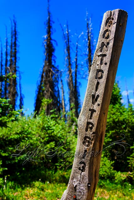 A Signpost on the Continental Divide Trail