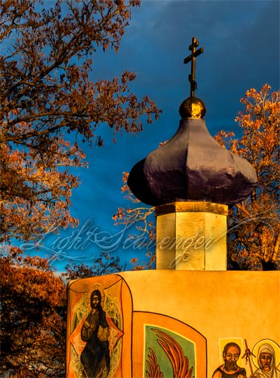 The onion dome of Our Lady of Kazan Skete, Albuquerque