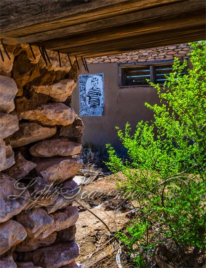 Ruins with Poster, Yeso, NM