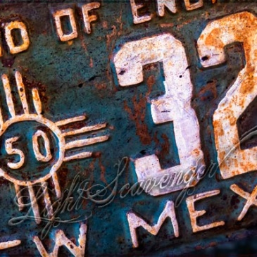 New Mexican License Plate