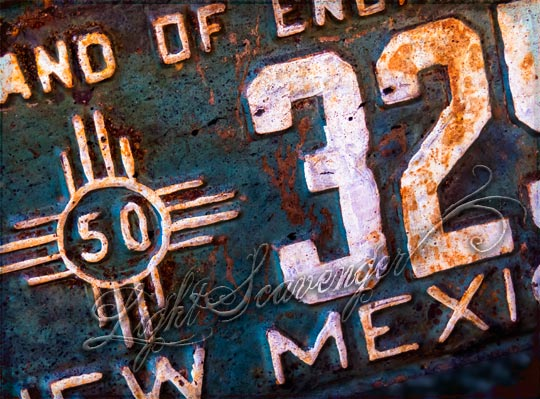 Old New Mexican License Plate