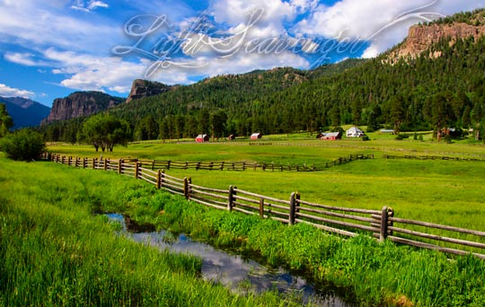 A pastoral scene outside Pagosa Springs, Colorado