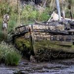 Yaquina River: Abandoned Boat
