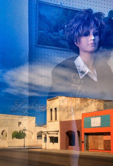Tucumcari Street Scene with Mannequin
